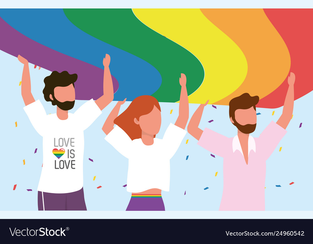 Lgbt community together to freedom and proud