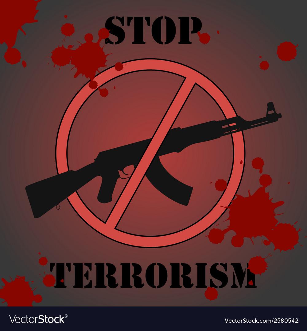 Stop terrorism vector image