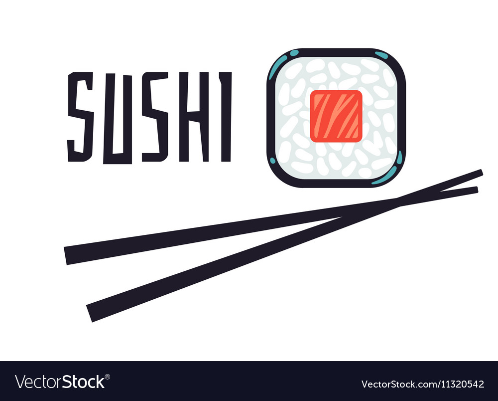 Sushi bar or restaurant logo template
