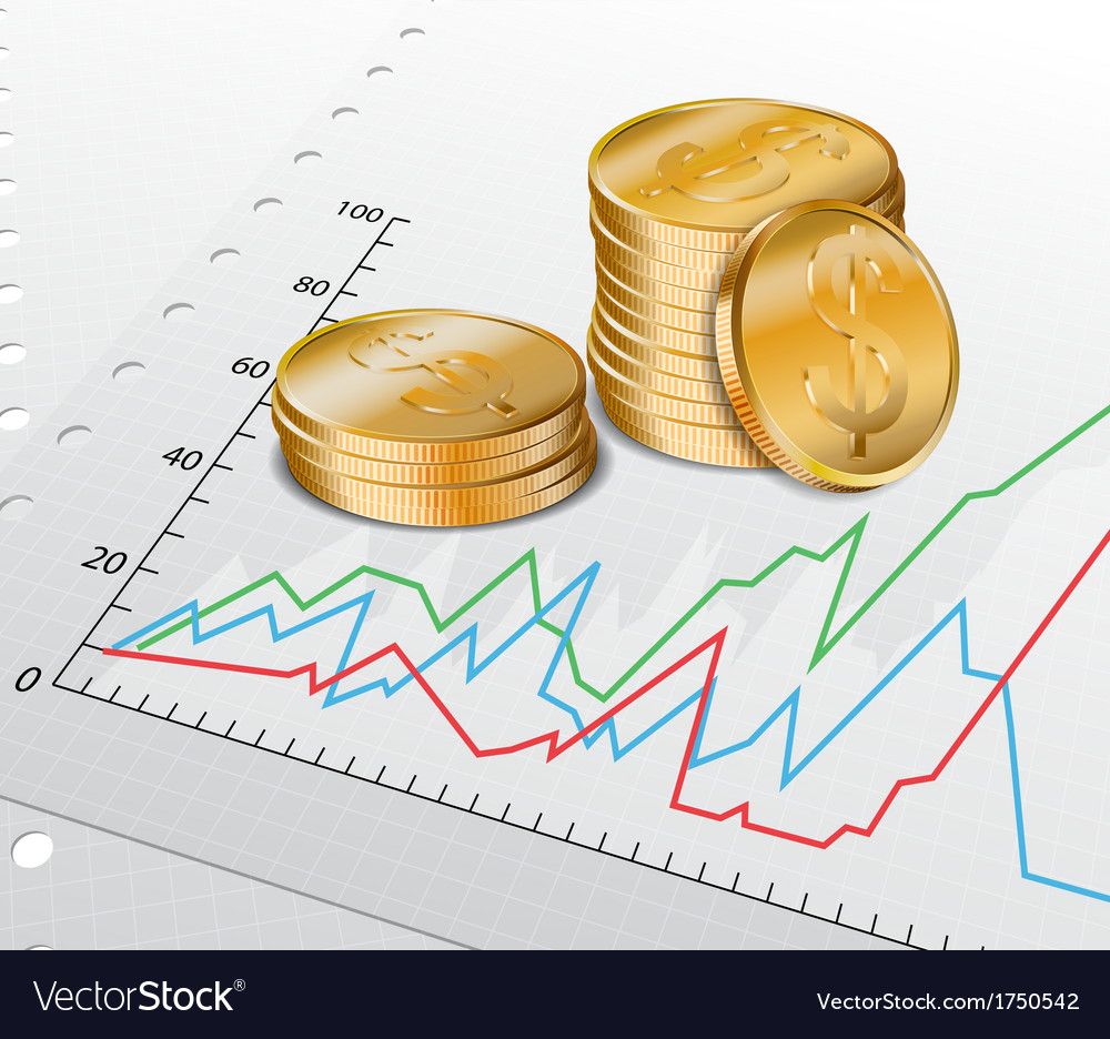 Trade diagram with golden coins