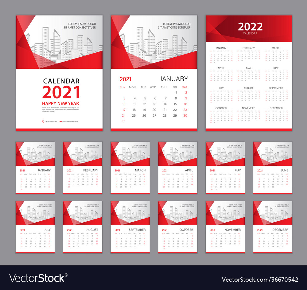 Wall Calendar 2022.Wall Calendar 2021 Template Set Calendar 2022 Year