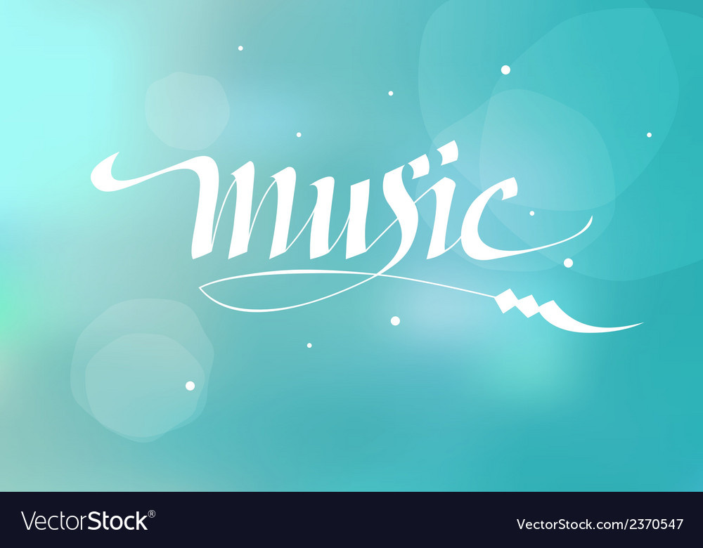 Calligraphic inscription music