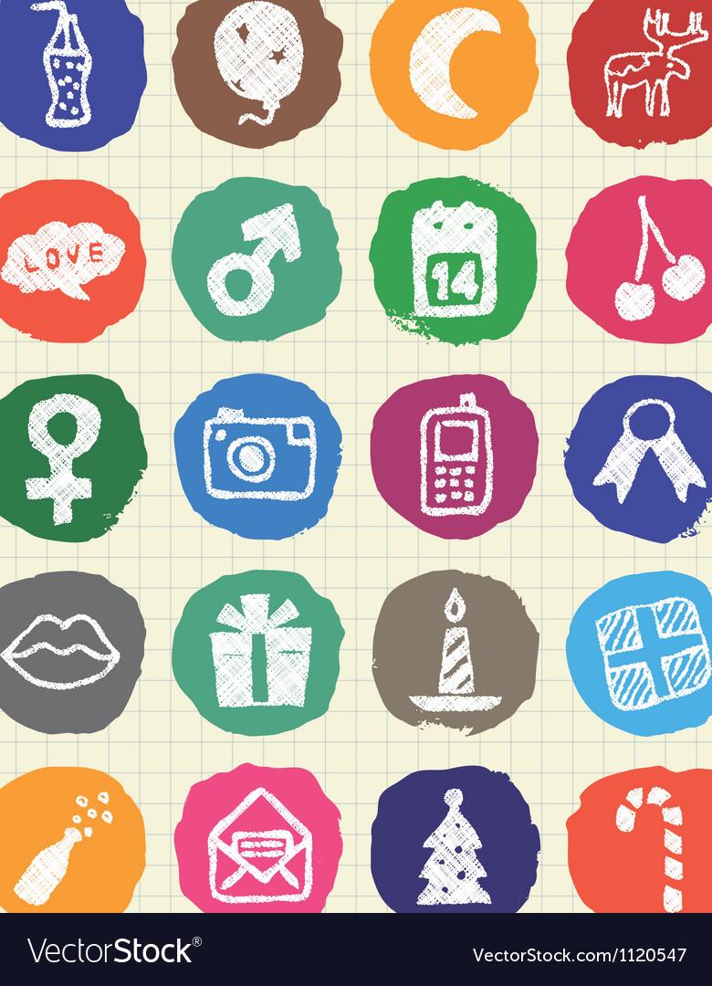 Christmas and other holidays web icons set