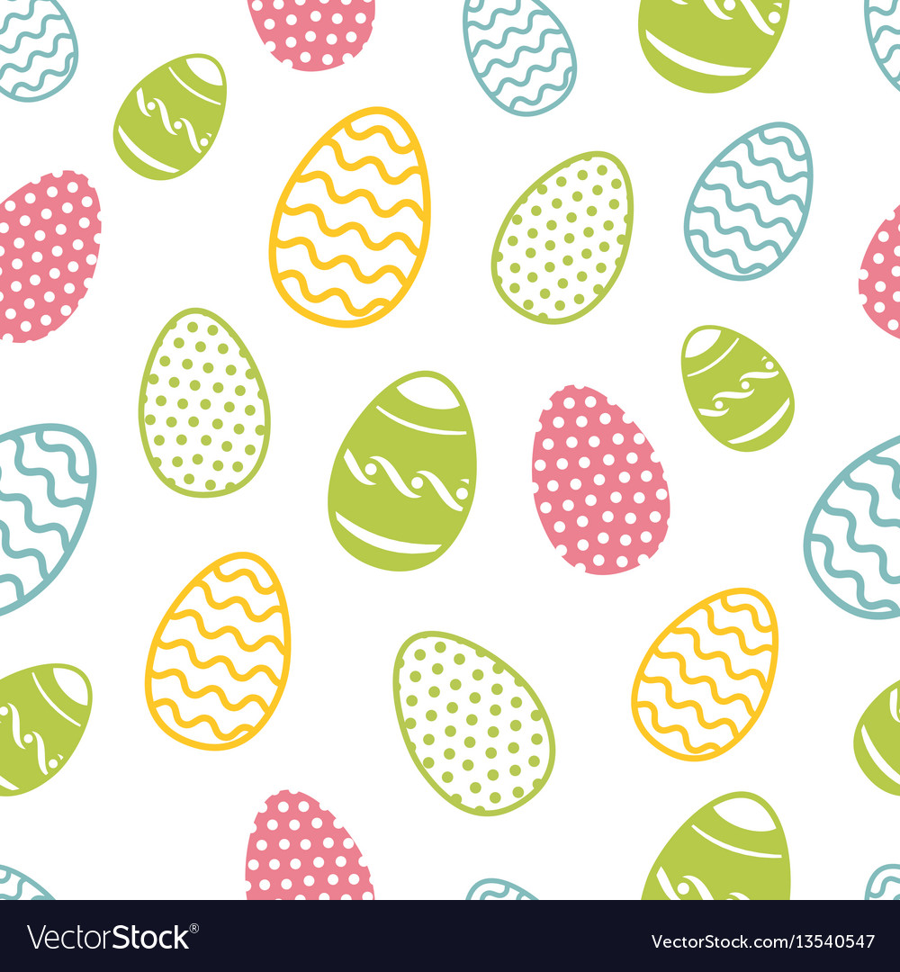 Easter egg seamless pattern cupcakes ostern