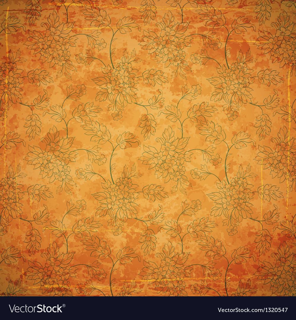 Floral ancient background vector image