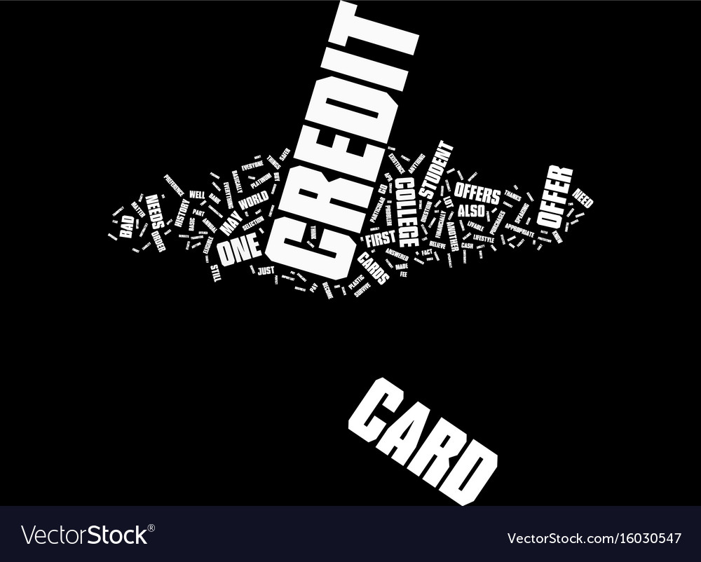 Know which college student credit card offer is vector image