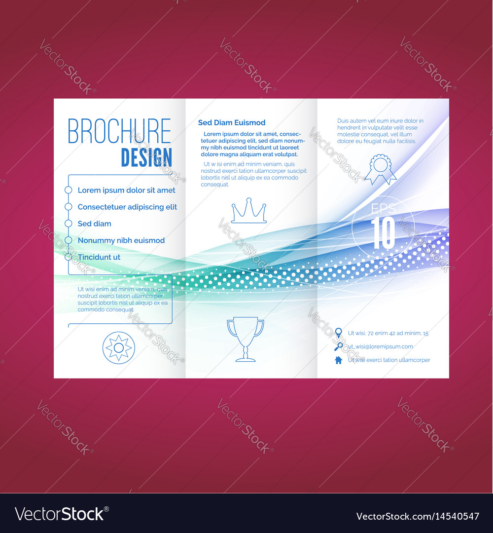 Light swoosh wave line abstract brochure document