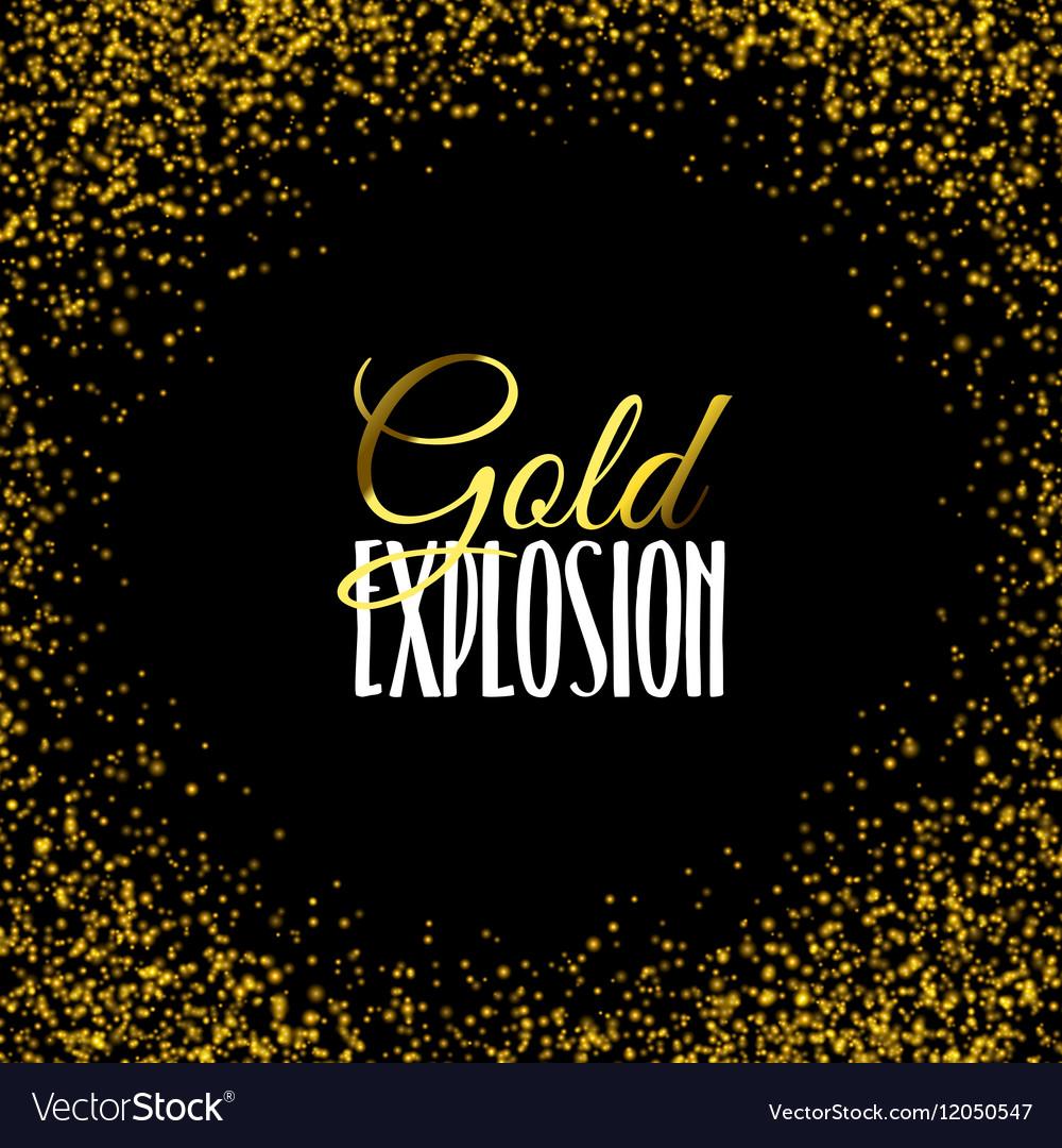 Luxury golden texture Gold frame glitter isolated