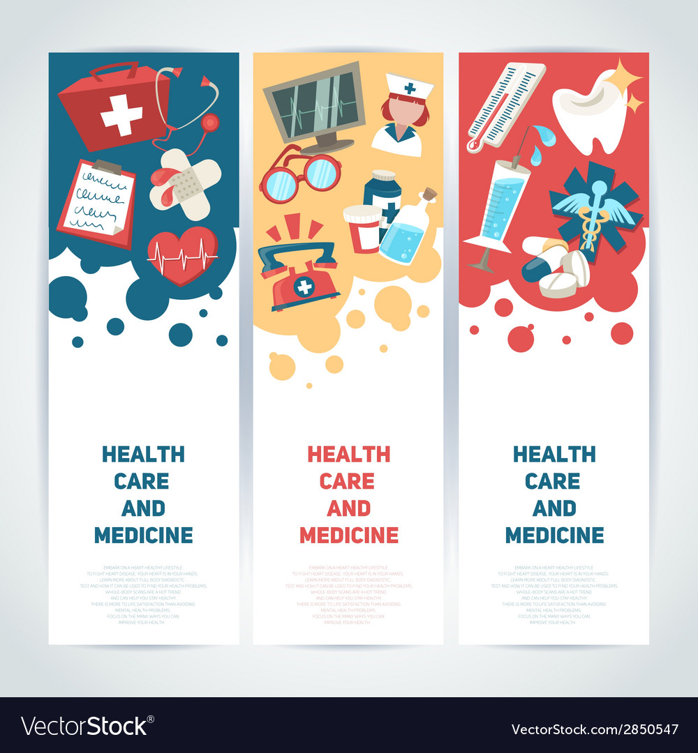 Medical vertical banners vector image