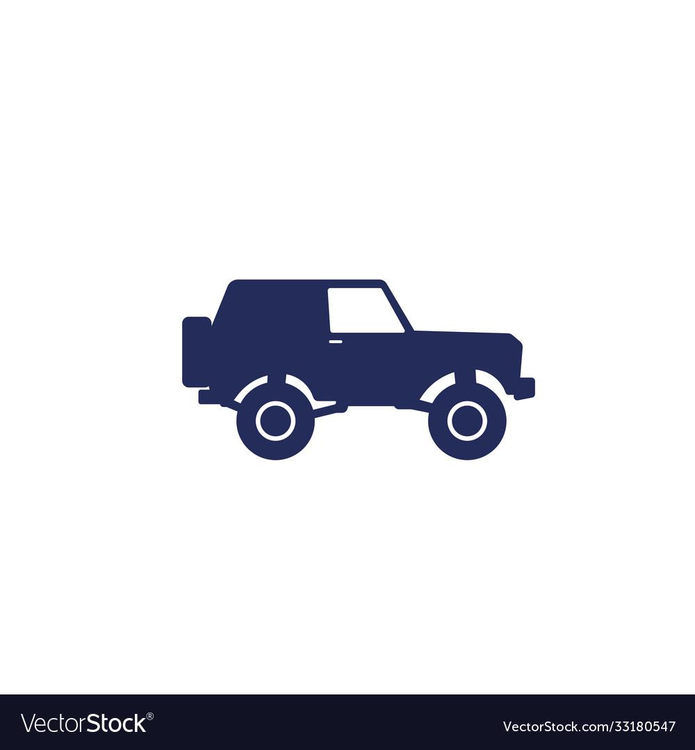 Off-road car 4wd suv icon