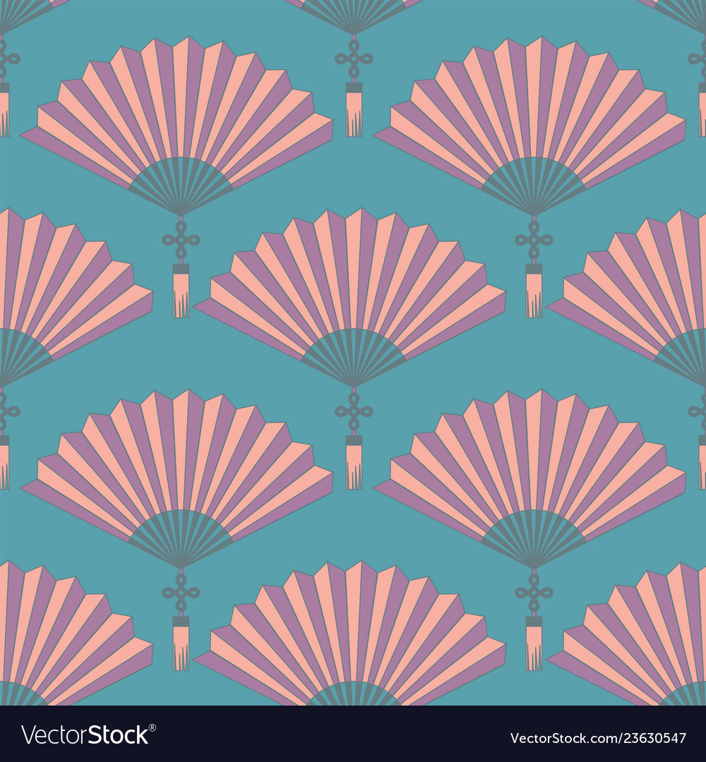 Seamless orientl chinese hand fan