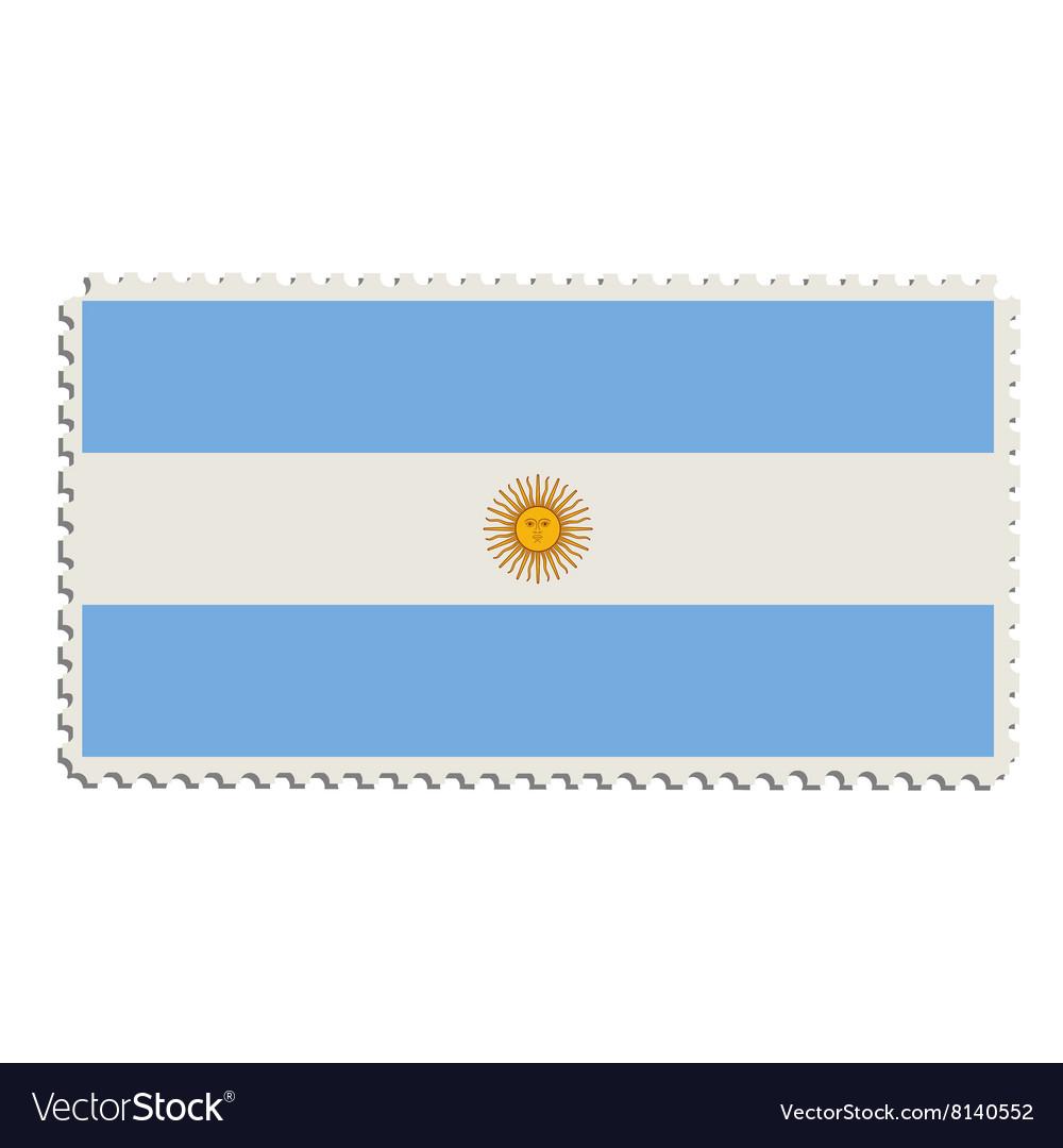 Argentinian flag stamp