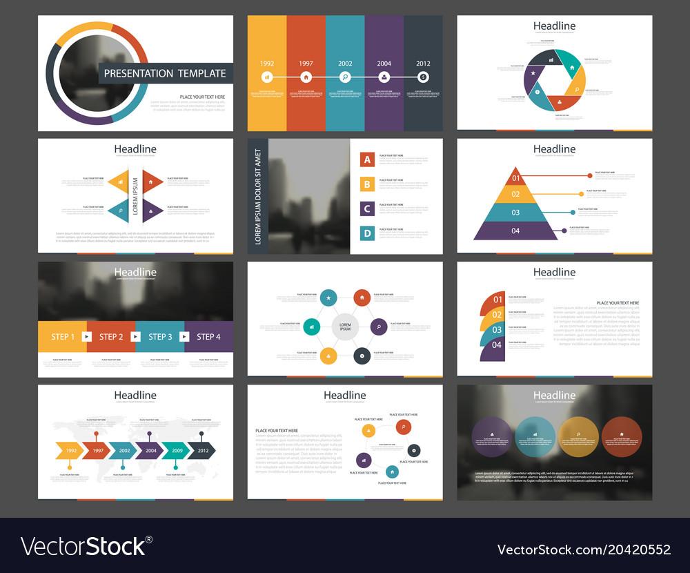 Bundle infographic elements presentation template