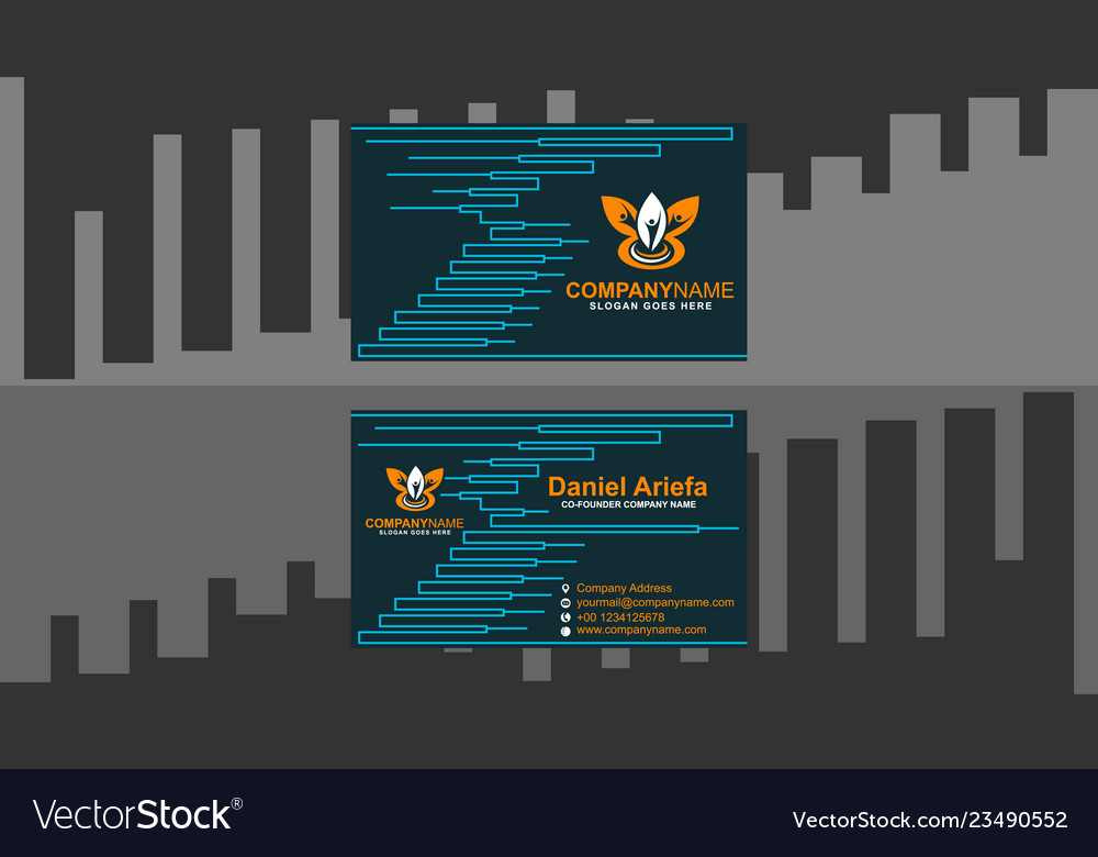 Business card clean modern template