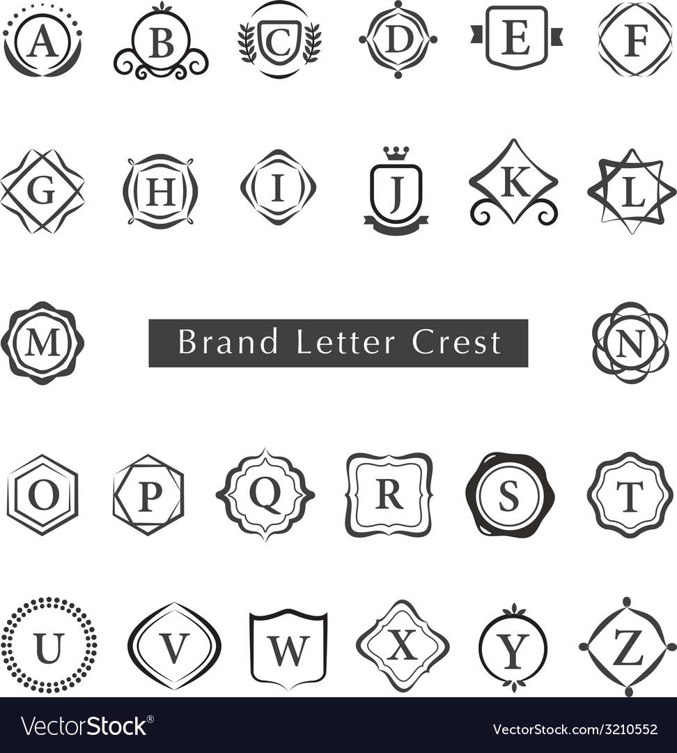 LETTERS CREST vector image