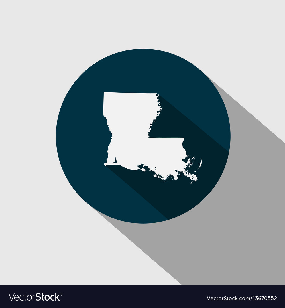 Map Of The Us State Louisiana Royalty Free Vector Image