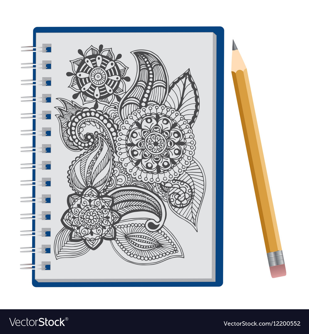Opened notepad with pen