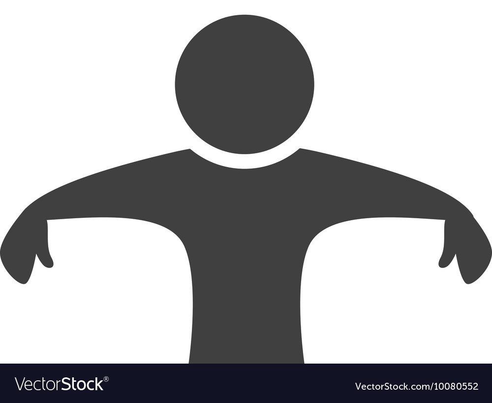 Pictogram icon Abstract people design