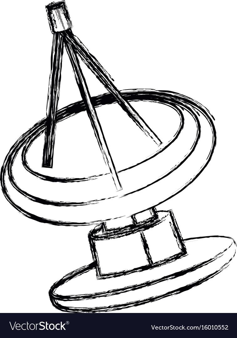 radar satellite dish munication antenna signal vector image Mini Signal Receiver
