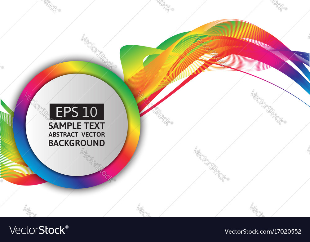 Rainbow Wave Abstract Background Graphic Design