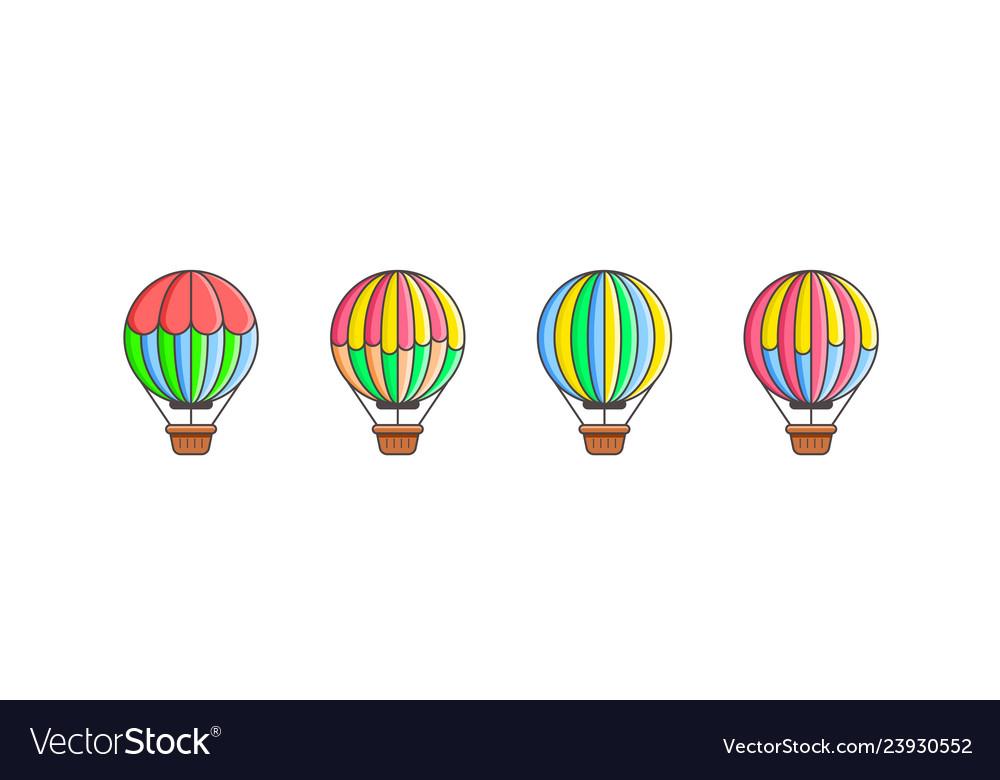 Set of air balloon icons