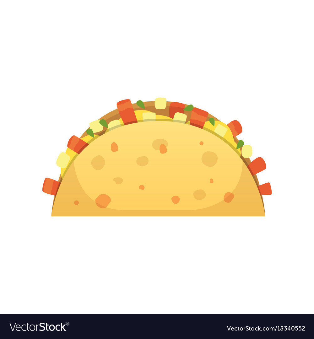 Taco in flat style