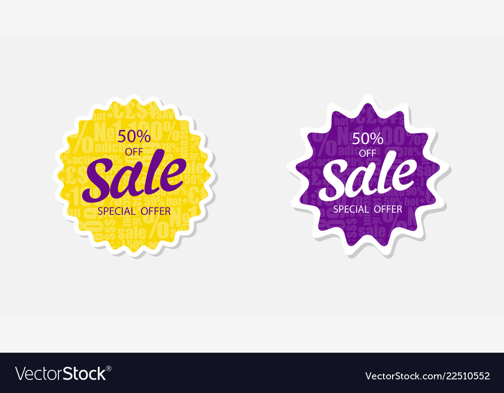 Two sticker sale 50 off special offer sale