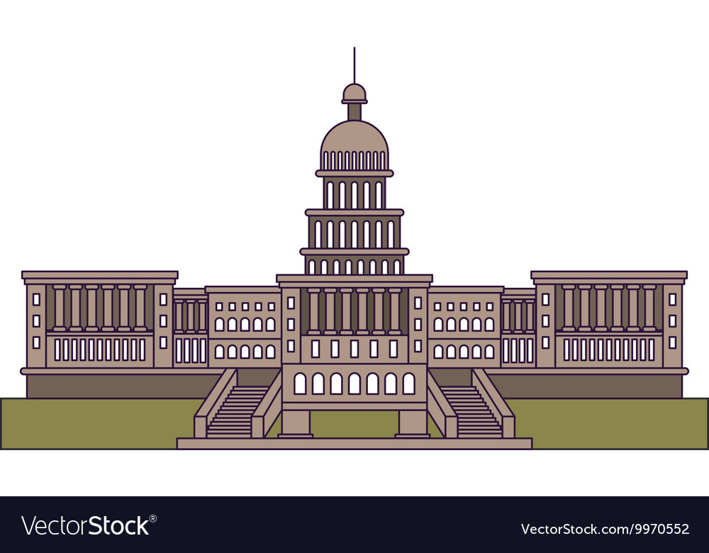 United states capitol isolated icon design