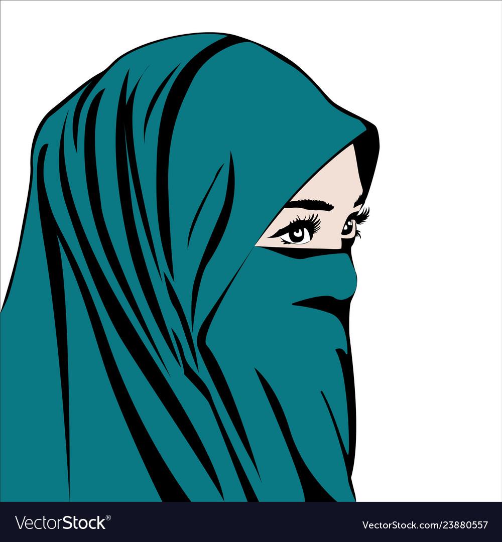Beautiful muslim woman with hijab isolated