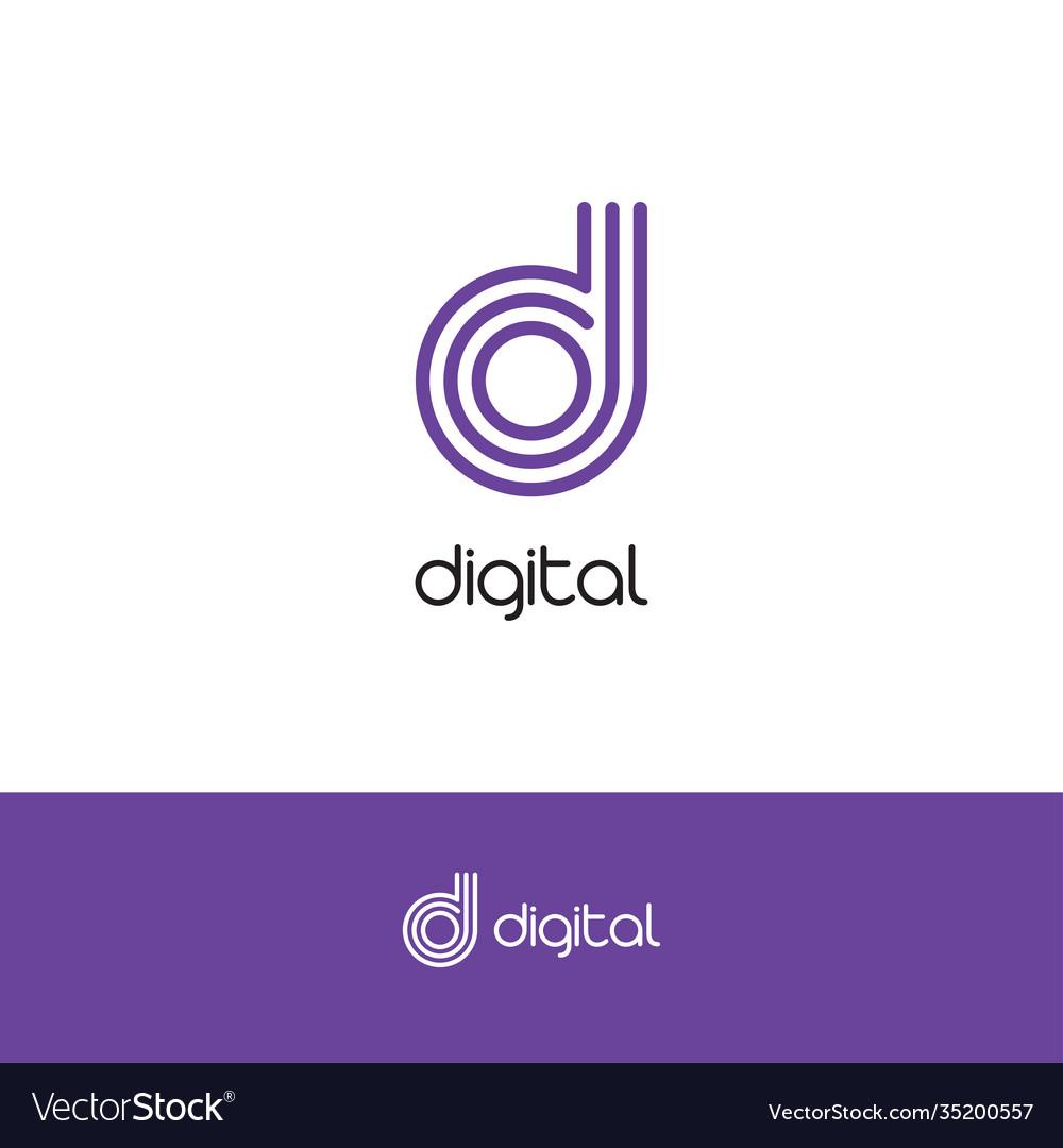 Letter d elegant logo and monogram