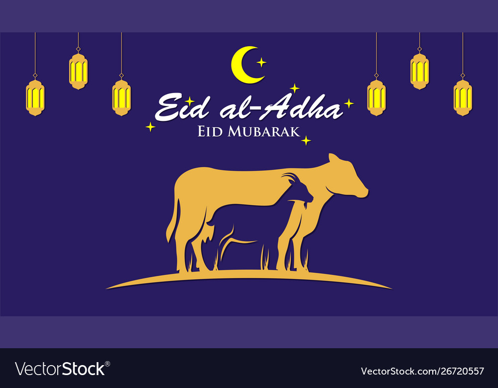 Muslim holiday eid al-adha graphic design for