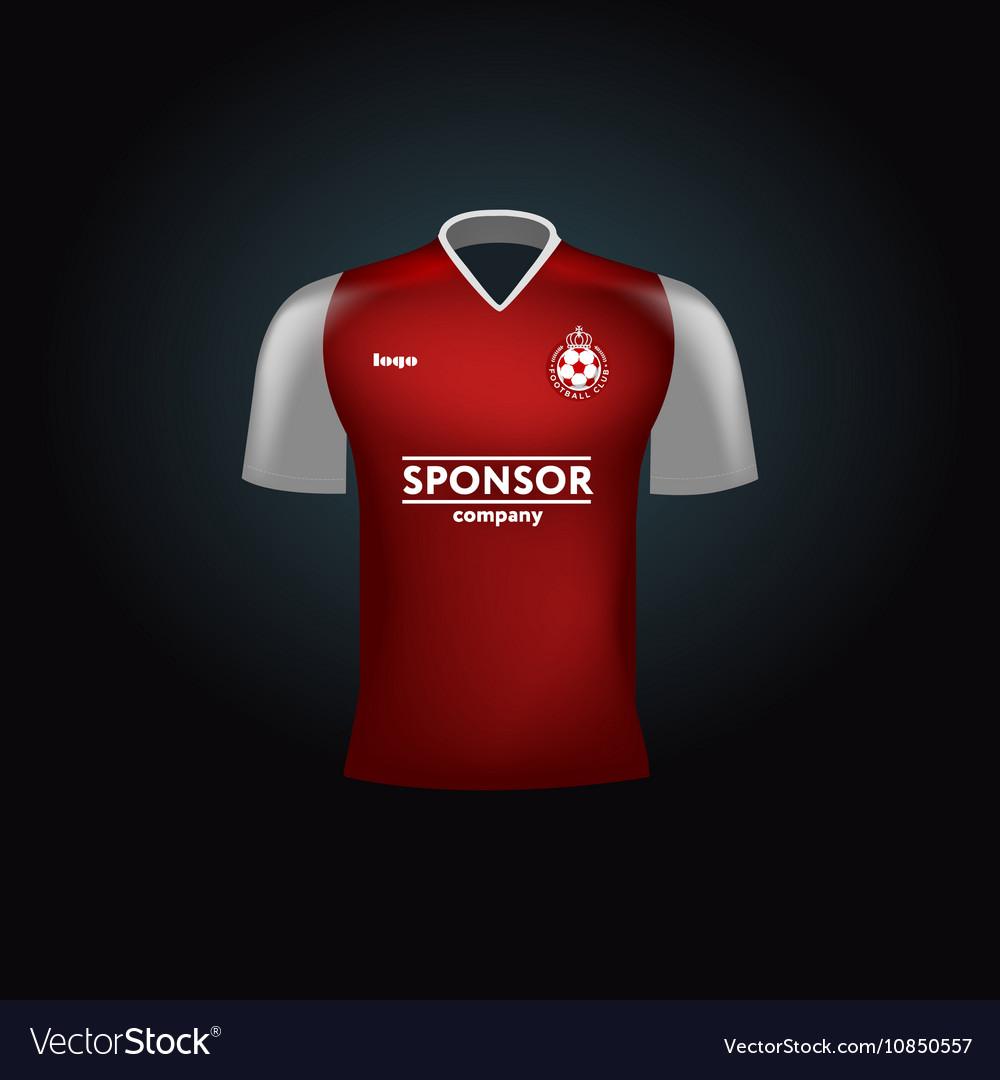 10172cf1a Realistic football uniform Branding mockup Vector Image