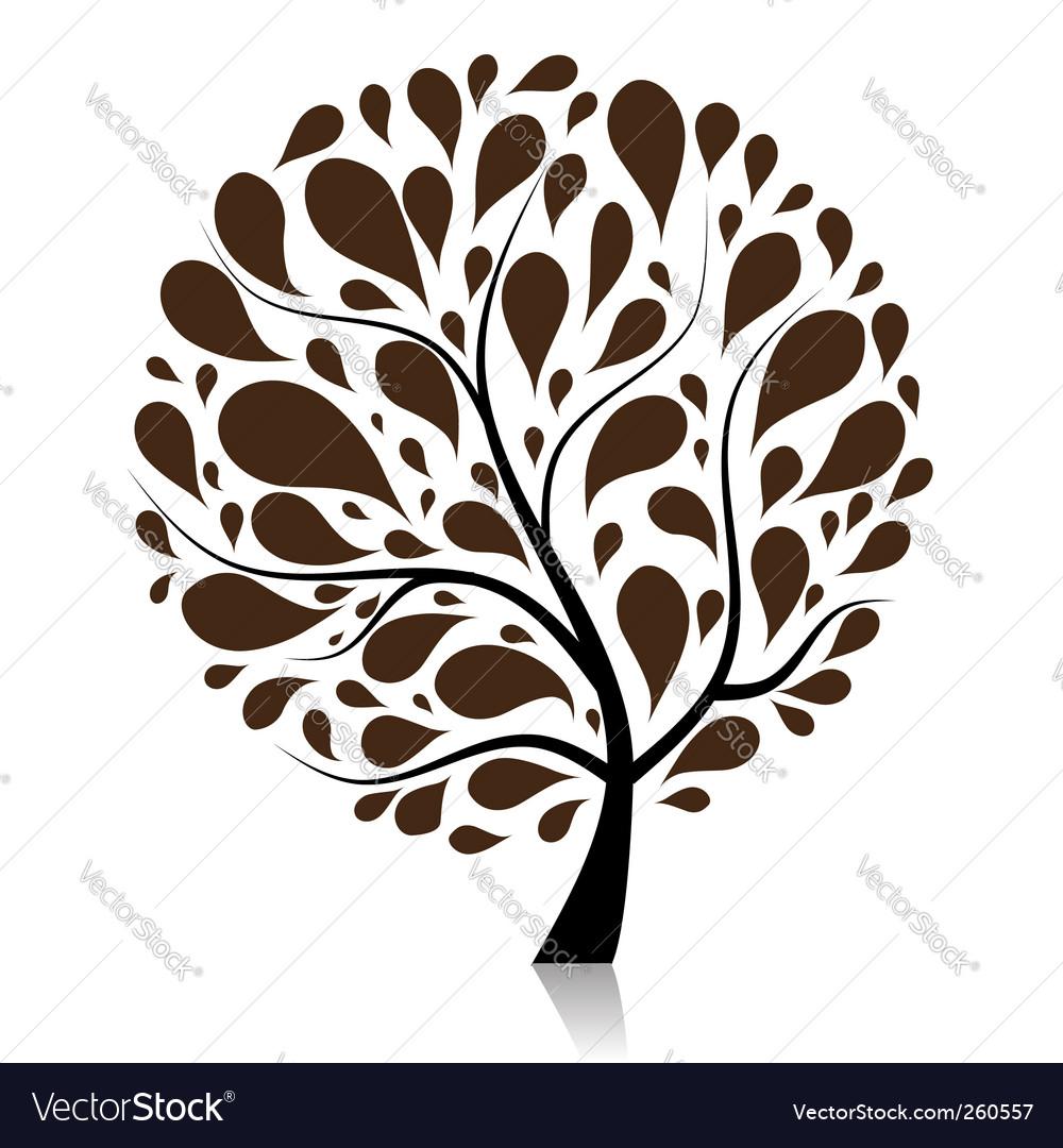 tree royalty free vector image vectorstock rh vectorstock com vector tree silhouette vector tree roots