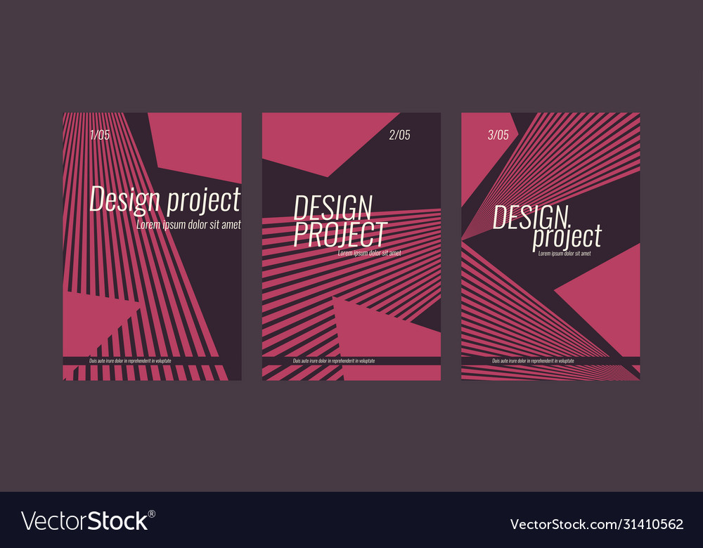 A set modern backgrounds with abstract elements