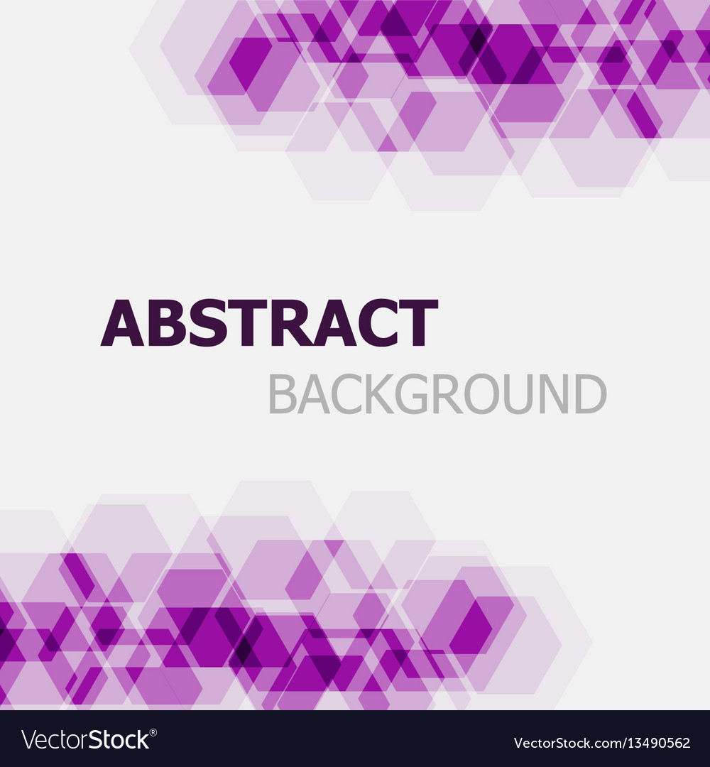 Abstract purple hexagon overlapping background