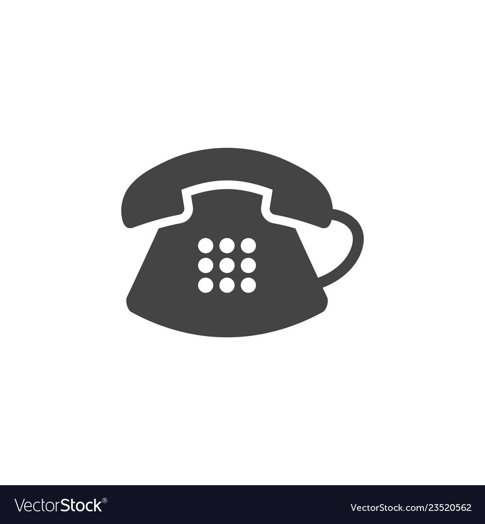 Classic telephone icon graphic design template