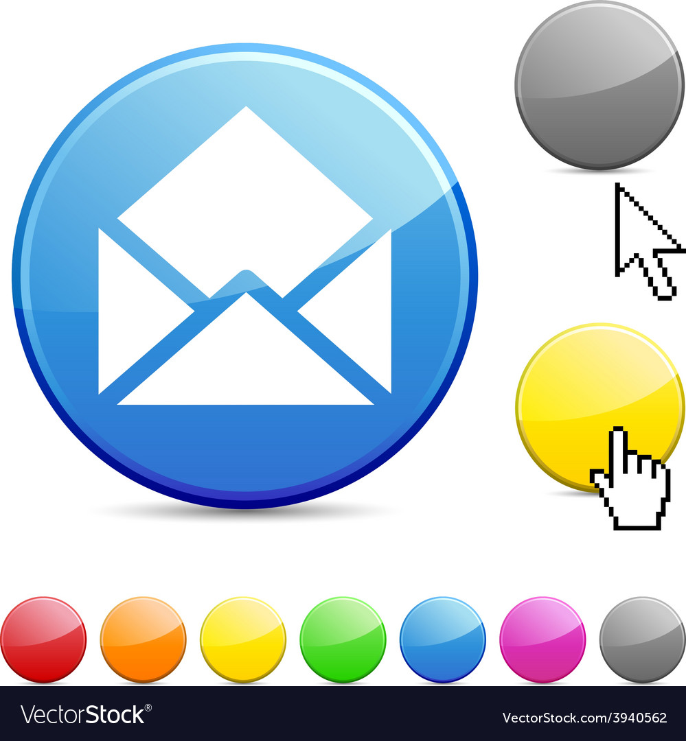 E-mail glossy button