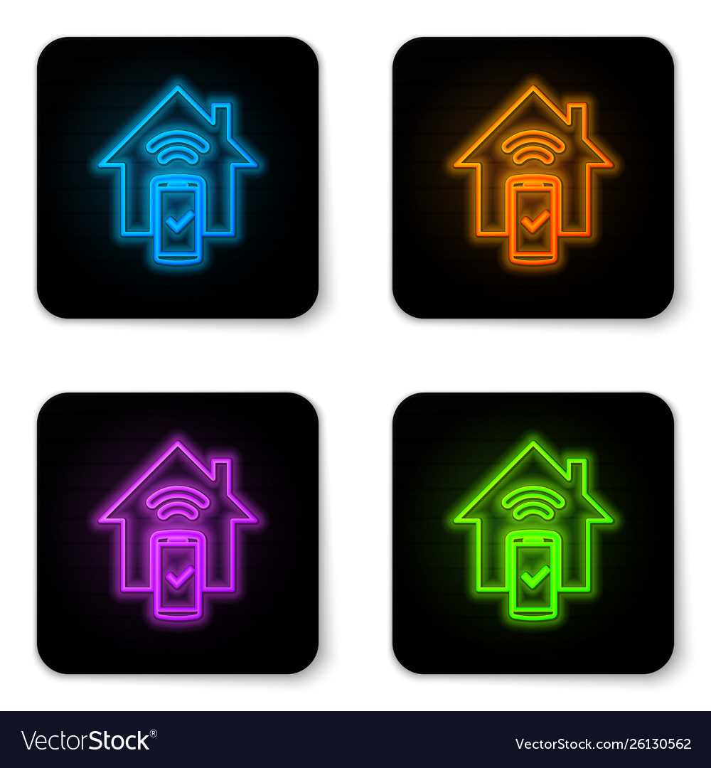 Glowing neon smart home - remote control system