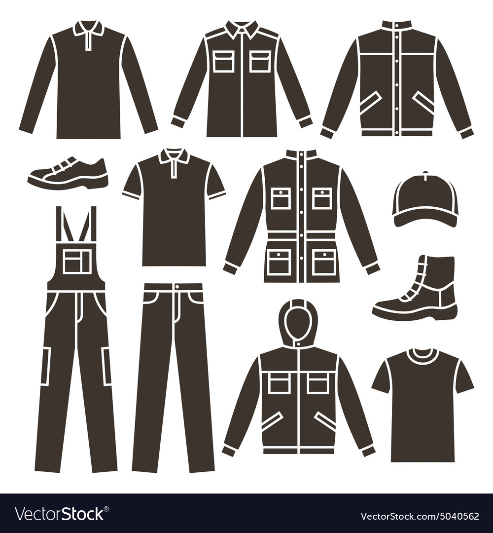 mens working clothes royalty free vector image