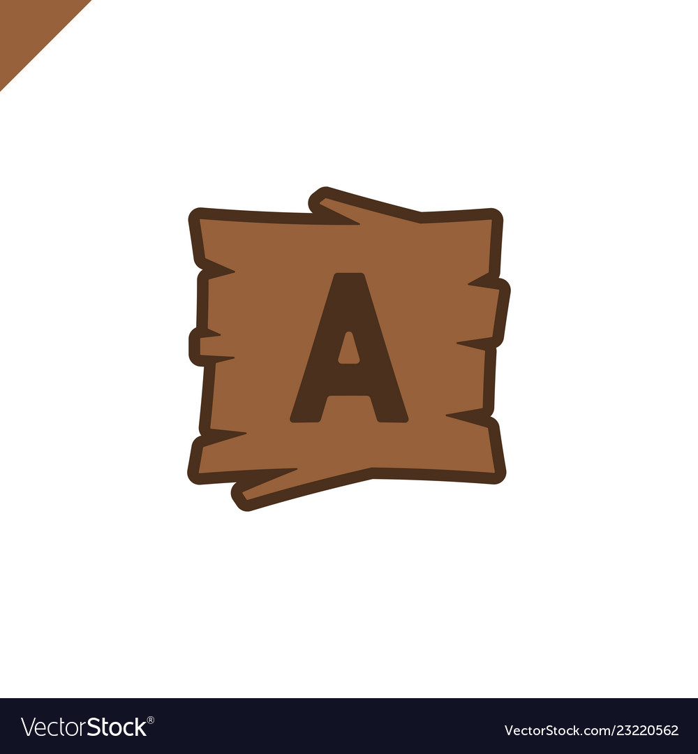 Wooden alphabet or font blocks with letter