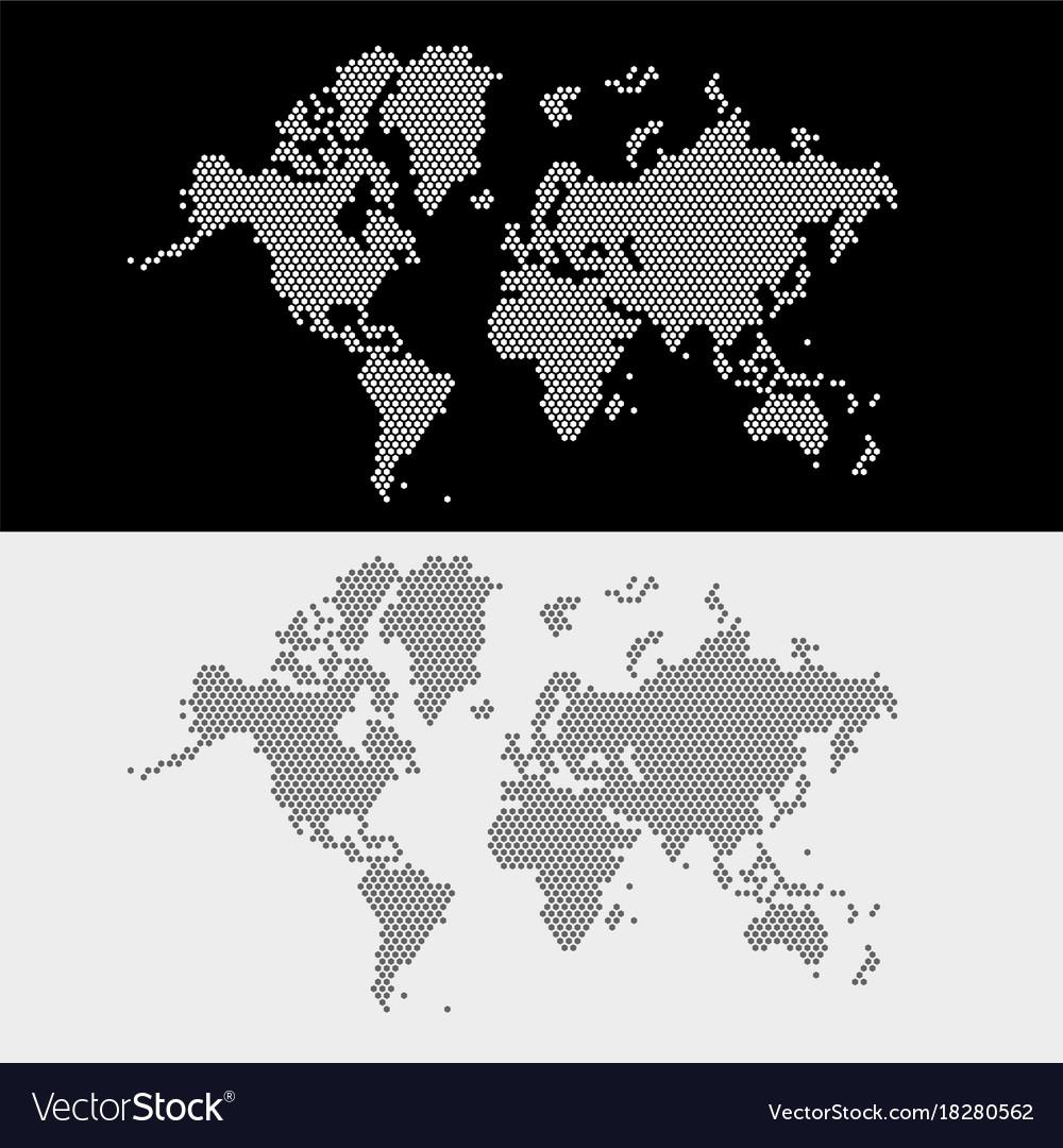 World map dots style