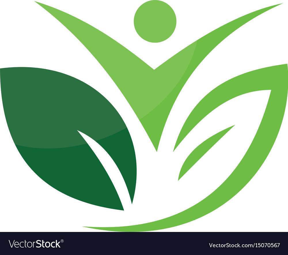 Abstract leaf people ecology logo