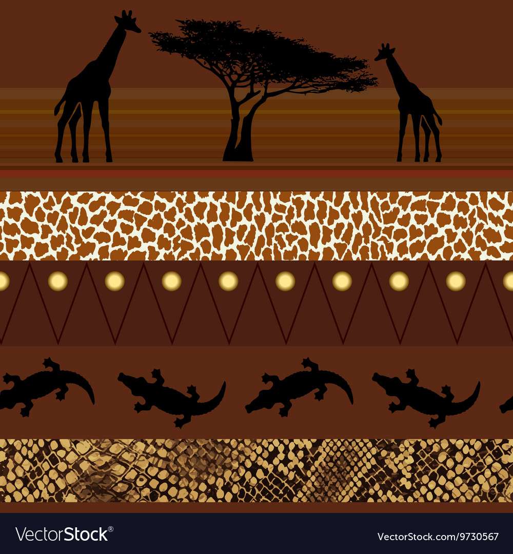 African style Seamless pattern vector image