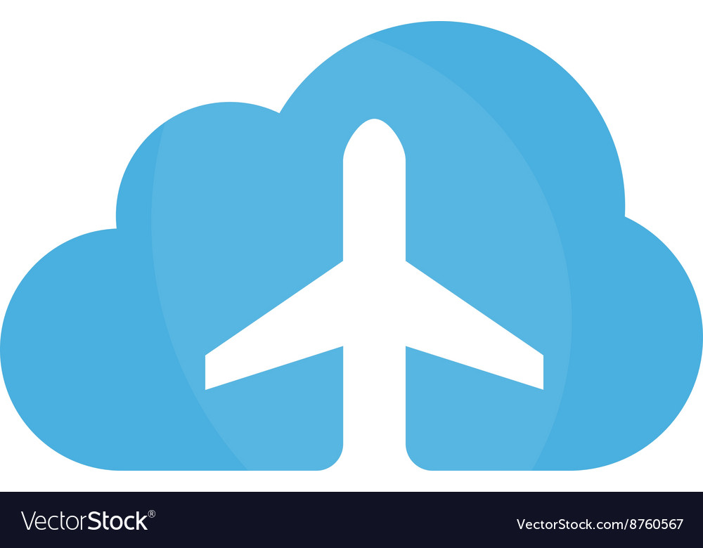 Airplane and cloud logo design template
