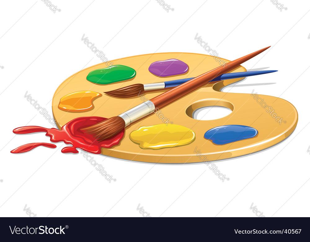 Art plate vector image