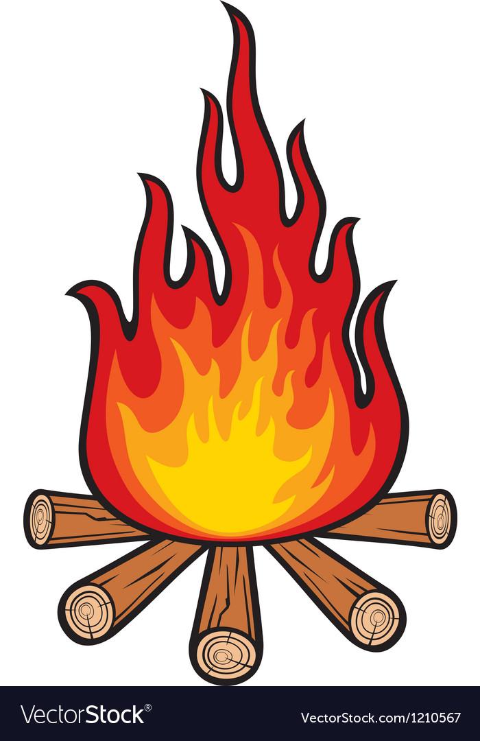 Campfire Royalty Free Vector Image