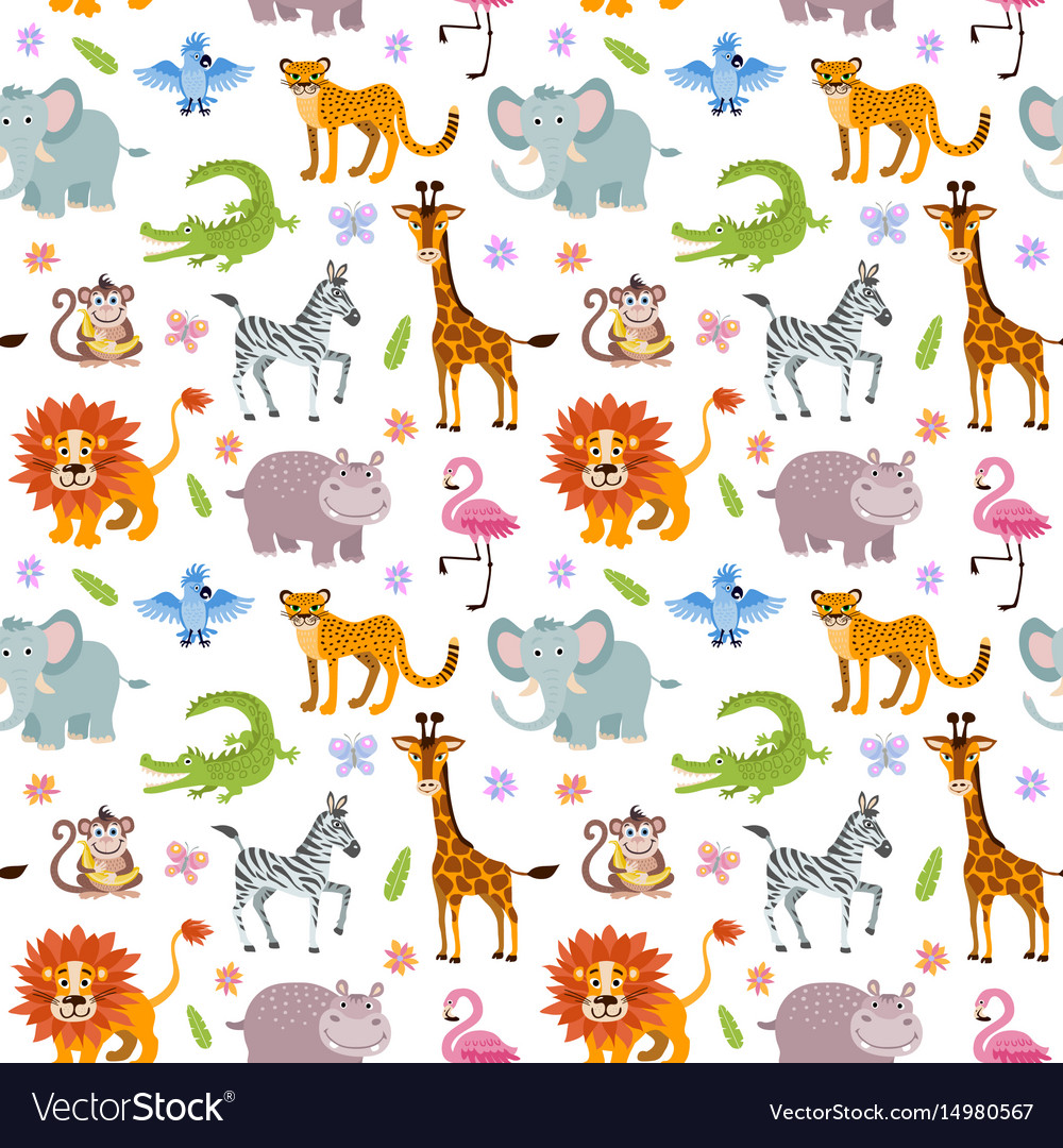 Children seamless wallpaper with cute and