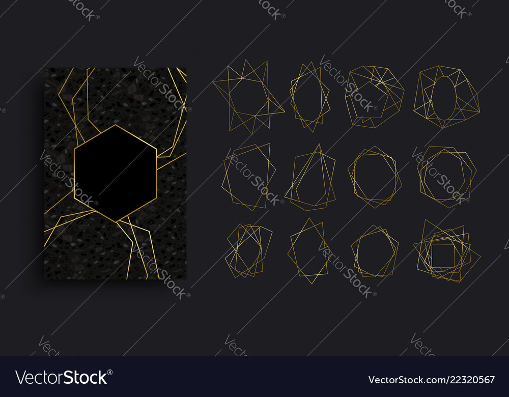 Gold and black luxury card background collection