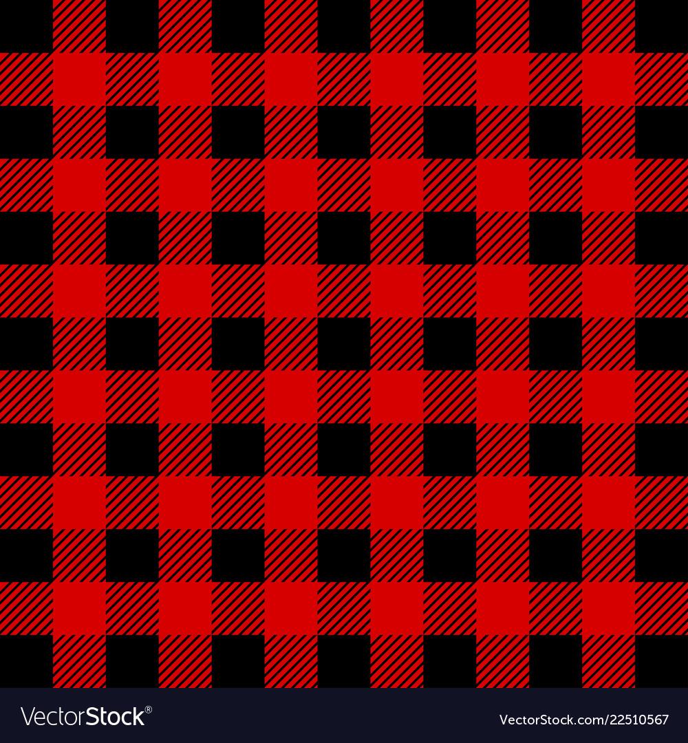 Plaid >> Lumberjack Buffalo Plaid Seamless Pattern Red And