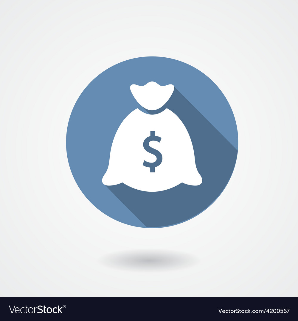 Money bag blue icon